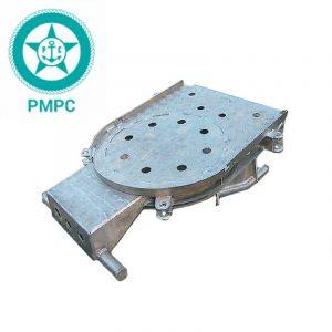 Площадка поворотно-откидная  алюминиевая для трапа-сходни с сертификатом РМРС