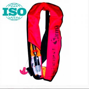 Спасательный жилет надувной c автоматическим механизмом и бросательным ремнем