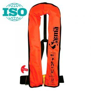 Спасательный жилет надувной c автоматическим механизмом цв.оранжевый